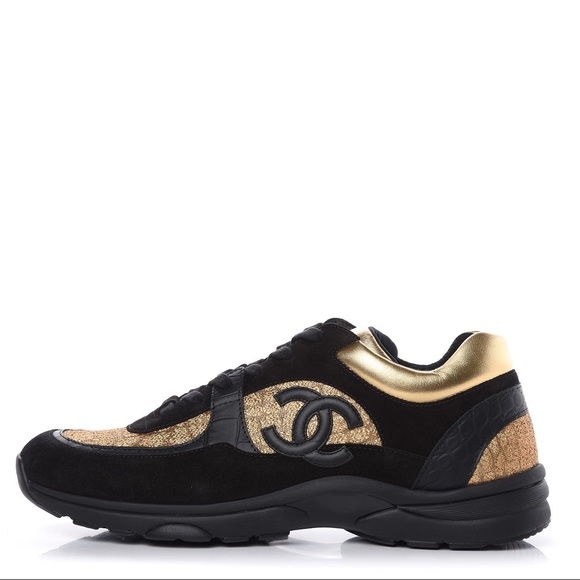 Black And Gold Chanel Shoes Only Worn